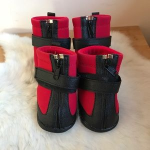 NEW Dog Shoes Paw Protectors Black/Red XXL